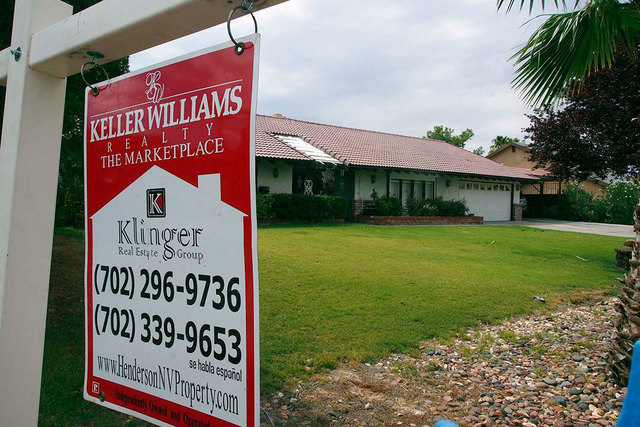 The median price of Southern Nevada homes sold rose slightly in September, a report released Wednesday shows. (Jerry Henkel/Las Vegas Review-Journal file)