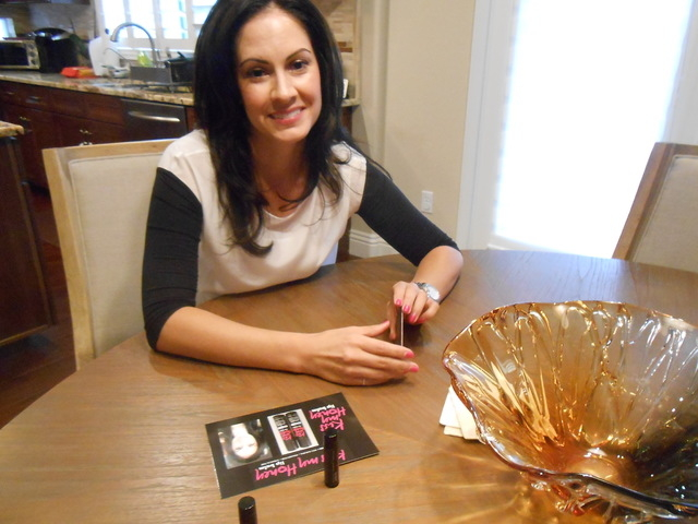 Summerlin resident Kellie Duran talks about how she came to invent Kiss My Honey lip balm during an interview in her home Sept. 8, 2014. She said she was concerned when her little boy, Robbie, wan ...