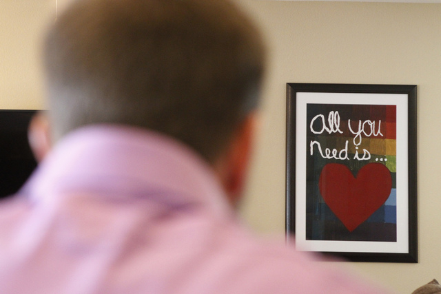 A poster decorates a wall at the Lamberths' home in Henderson Tuesday, Oct. 21, 2014. Jason Lamberth and his wife, Jennifer, are filing a wrongful death lawsuit against the Clark County School Dis ...