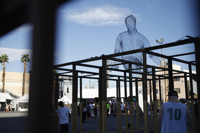 An art installation is seen during day two of the Life Is Beautiful music and art festival in downtown Las Vegas Saturday, Oct. 25, 2014. (Erik Verduzco/Las Vegas Review-Journal)