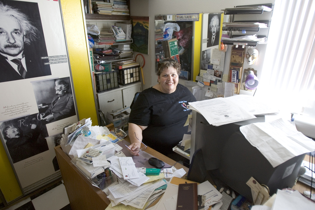 Homeless advocate Linda Lera-Randle El, founder and director of the Straight From the Streets charity, poses in her home office in Las Vegas, Feb. 10, 2006. Lera-Randle El was voted Favorite Femal ...