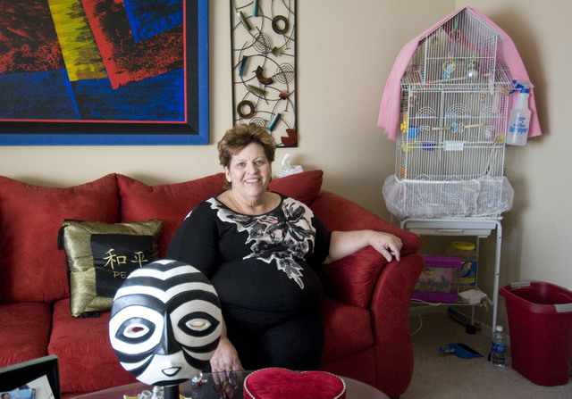 Homeless advocate Linda Lera-Randle El, founder and director of the Straight From the Streets charity, poses in her home in Las Vegas, Friday, Feb. 4, 2011. (Jerry Henkel/Las Vegas Review-Journal)