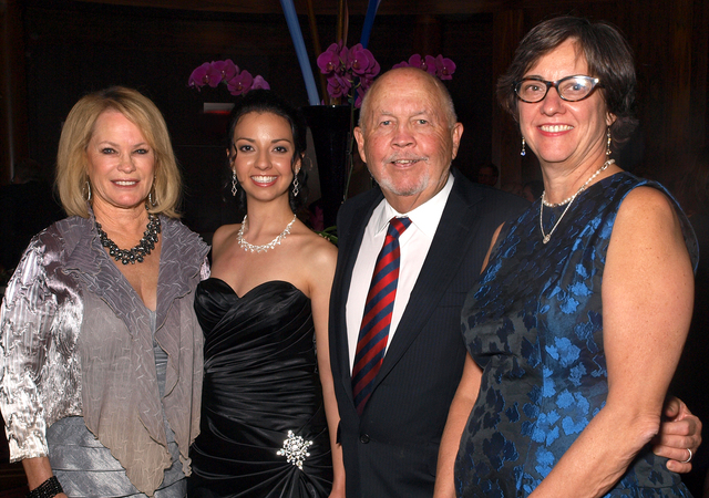 Jeri Crawford, from left, Elena Jacob, Rick Crawford and Martha Gilmer (Marian Umhoefer/Las Vegas Review-Journal)