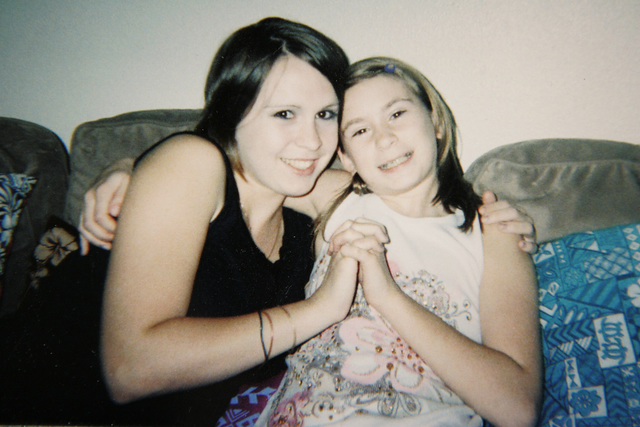 HANDOUT PHOTO/REVIEW-JOURNAL Undated photo of Nicole Yegge, left, and her younger sister Mikayla Yegge.