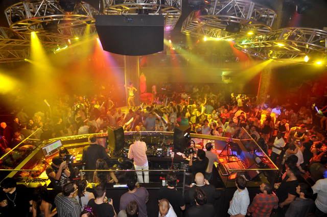 MGM Resorts International acknowledged this week that it will close Haze Nightclub at Aria at the end of the month. (Bill Hughes/Las Vegas Review-Journal file)
