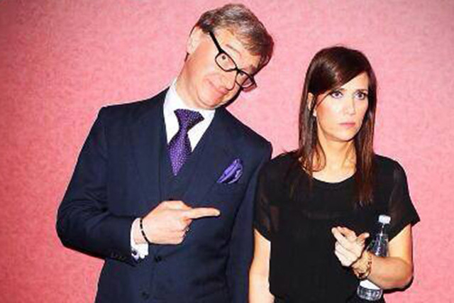 "Filmmaker Paul Feig, left, poses with ""Bridesmaids"" actress Kristen Wiig. (courtesy Paul Feig/Facebook)"