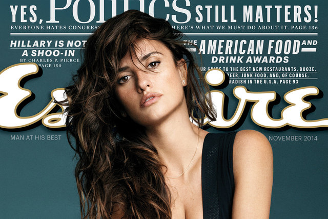 "Actress Penelope Cruz is shown on the November 2014 cover of ""Esquire"" magazine. The magazine has named Cruz The Sexiest Woman Alive for 2014. (AP Photo/Esquire)"