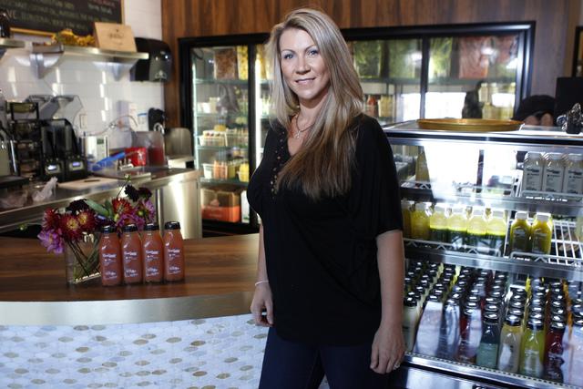 Marcella Melnichuk, co-owner of The Juice Standard, poses for a portrait inside of her shop in Las Vegas Saturday, Oct. 4, 2014. (Erik Verduzco/Las Vegas Review-Journal)