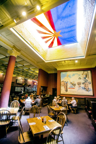 The historic Palace Restaurant and Saloon in Prescott, Ariz. as seen on Sunday, June 15,2014. The popular watering hole along Whiskey Row opened in 1877.(Jeff Scheid/Las Vegas Review-Journal)