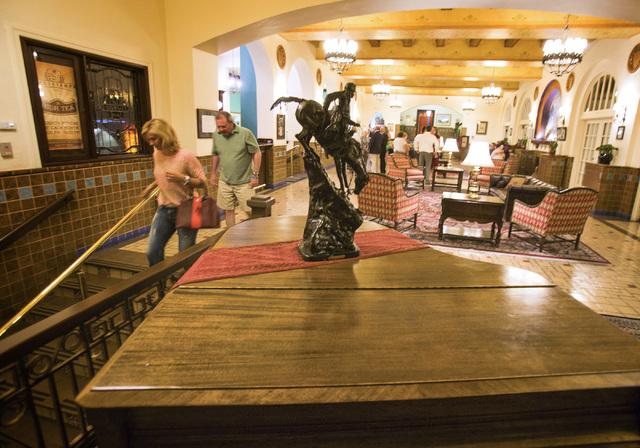 The lobby area of Hassayampa Inn in Prescott, Ariz. as seen Saturday, June 1 ,2014. The hotel was open in 1927. (Jeff Scheid/Las Vegas Review-Journal)
