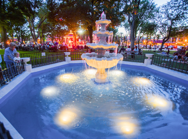 The Courthouse Plaza as seen Saturday, June 1 ,2014  in Prescott, Ariz. The area is a popular gathering place for families enjoying weekend concerts.  (Jeff Scheid/Las Vegas Review-Journal)