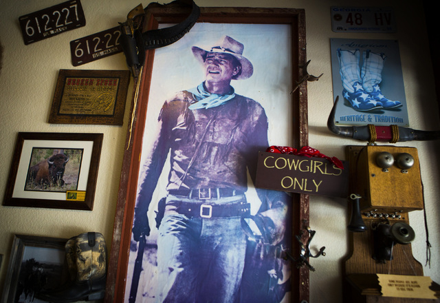 Western theme momentos as seen Saturday, June 1,2014  at Lone Spur Cafe in Prescott, Ariz. On weekends the line can be long to get a table. (Jeff Scheid/Las Vegas Review-Journal)