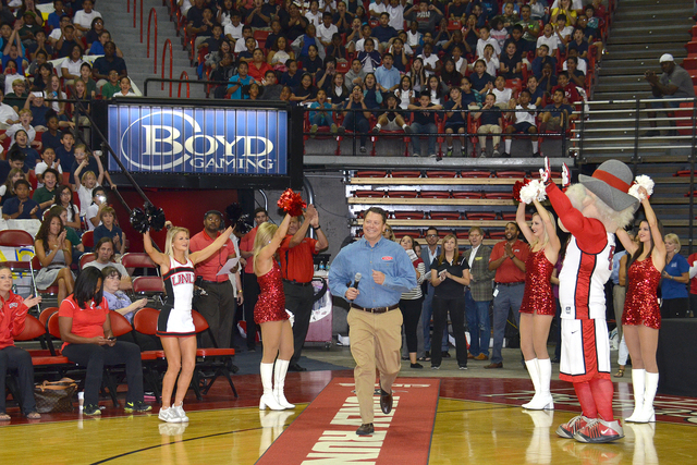 Clark County School District Superintendent Pat Skorkowsky visited the Thomas & Mack Center for the kickoff of the Rebel Reading Challenge, Oct. 15. (Special to View)