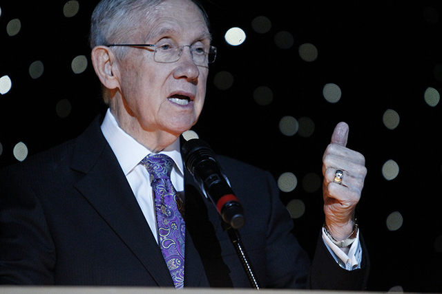 Sen. Harry Reid last month introduced legislation to withdraw 805,100 acres of federal land in Garden Valley and Coal Valley straddling the Lincoln and Nye county lines (Erik Verduzco/Las vegas Re ...