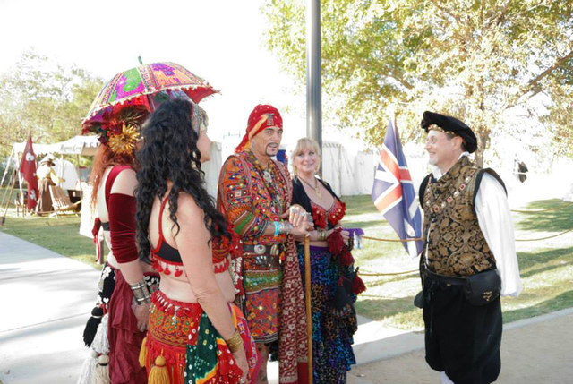 Festival king Nate Tannenbaum chats with guests at the Age of Chivalry Renaissance Festival. The festival is slated to return Friday. (Special to the Las Vegas Review-Journal)