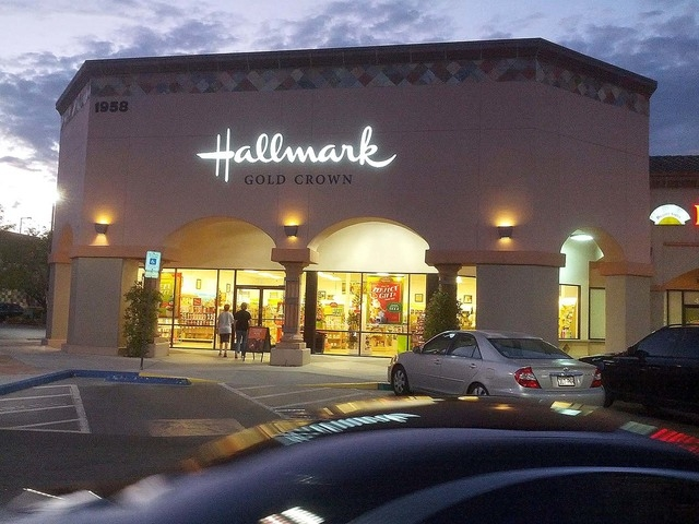 People are seen at a Hallmark Creations store at 1958 Village Center Circle in Las Vegas, Nev., on Wednesday, Oct. 8, 2014. (Daniel Behringer/Las Vegas Review-Journal)