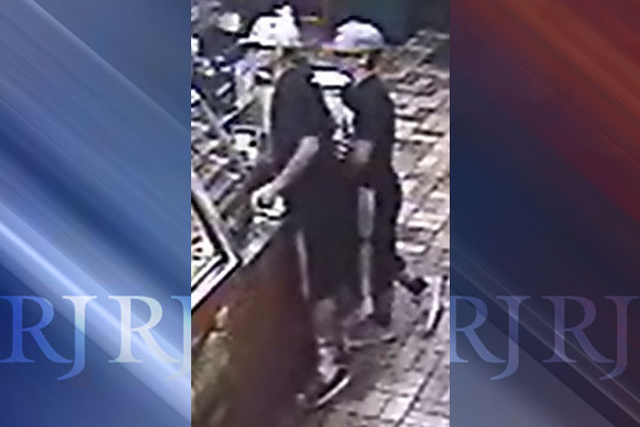 Las Vegas police are seeking the public's help in identifying two people connected to a robbery near Flamingo Road and Arville Street. (courtesy Las Vegas Metropolitan Police Department)