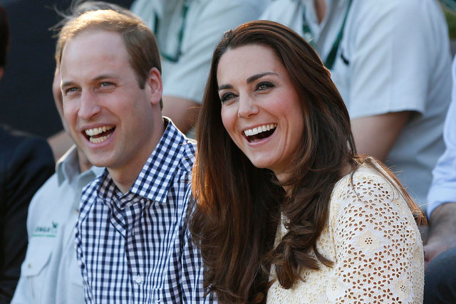 Britain's Prince William and his wife, Kate, are shown during a visit to Taronga Zoo in Sydney, Australia, on April 20, 2014. (Reuters/Phil Noble)