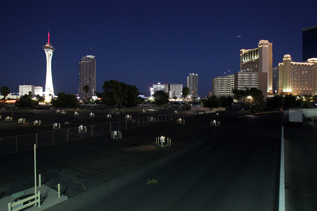 The closed KOA campground at Circus Circus is shown Thursday, Oct. 2, 2014. MGM Resorts terminated the lease to make room for an outdoor concert venue. The new KOA home will be near Sam's Town on  ...