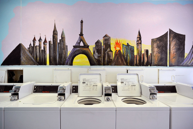Laundry machines at the former KOA park at Circus Circus sit idle on Friday, Oct. 3, 2014. MGM Resorts International announced this week the Circus Circus RV park had closed and would be renovated ...