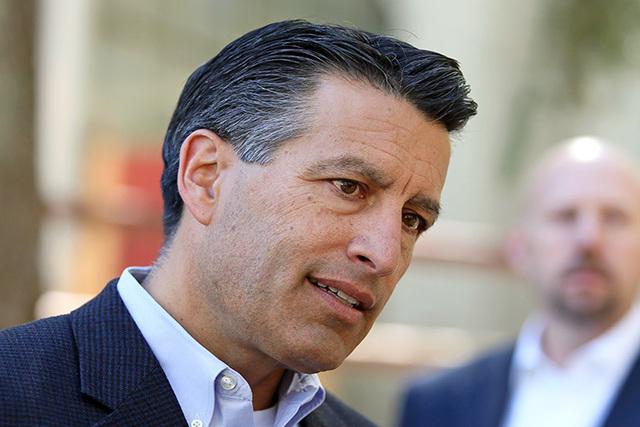 Gov. Brian Sandoval on Monday, Aug. 25, 2014, near Las Vegas. (Ronda Churchill/Las Vegas Review-Journal)