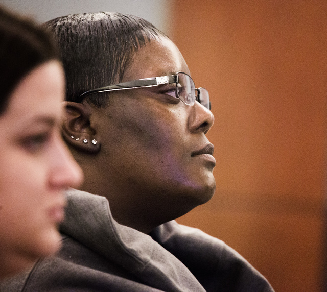 Former limousine  driver Brenda Pruitt during sentencing of Carlos Saenz III in Regional Justice Center on Tuesday, Oct.  28, 2014.  Judge Abbi Silver gave Saenz a six months sentence for  brutall ...