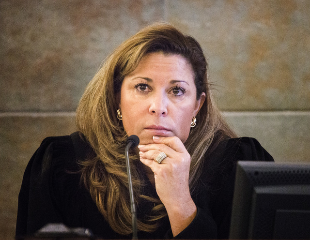 Judge Abbi Silver during sentencing of Carlos Saenz III in Regional Justice Center on Tuesday, Oct.  28, 2014.  Silver gave Saenz a six months sentence for  brutally attacking former limousine dri ...
