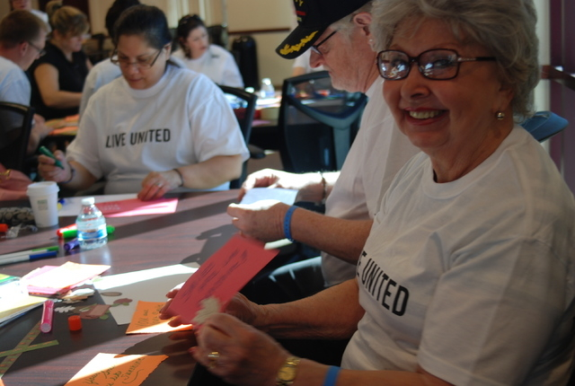 Volunteers gathered at United Way of Southern Nevada, 5830 W. Flamingo Road, Oct. 4 to assemble dental kits for families and children in need. They also created cards with positive messages while  ...