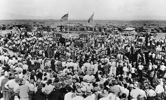 SEPT. 17, 1930;  BOULDER JUNCTION, NV. (Courtesy of City of Las Vegas)