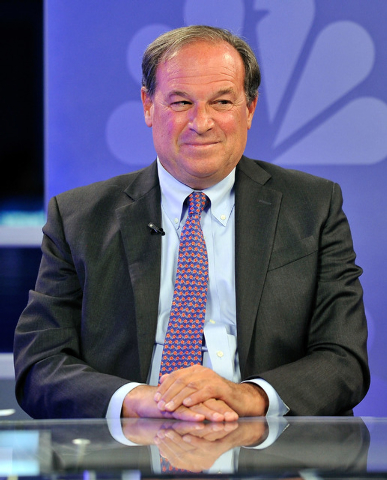 """Nevada treasurer candidate, Republican Dan Schwartz, appears during a debate on the """"Ralston Reports,"""" show at the KSNV studios in Las Vegas on Tuesday, Oct. 21, 2014. (David Becker/Las  ..."""
