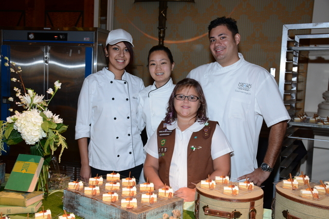 Chef Jeanette Droegmoeller of Bellagio was awarded first place in the dessert competition at the Girls Scouts of Southern Nevada's Dessert Before Dinner Gala, held on Sept. 27 at Caesars Palace. D ...