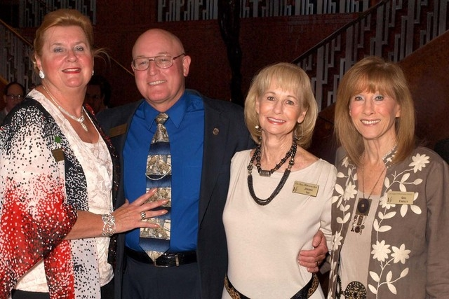 Juliana and Matthew McRae, from left, Jessica Lee and Gail Findley (Marian Umhoefer/Las Vegas Review-Journal)