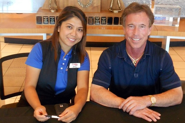 Monaliza Pence is highly successful as a sales consultant at Findlay Toyota at 7733 Eastgate Road in the Valley Automall. She is shown with dealership General Manager Rich Abajian. (Courtesy)
