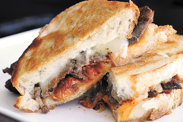 The Korean Style grilled cheese features kimchi and havarti cheese. (Courtesy of the Wisconsin Milk Marketing Board)