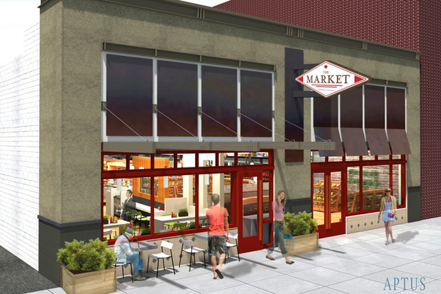 The Market is scheduled to open East Fremont Street this week. (Courtesy)