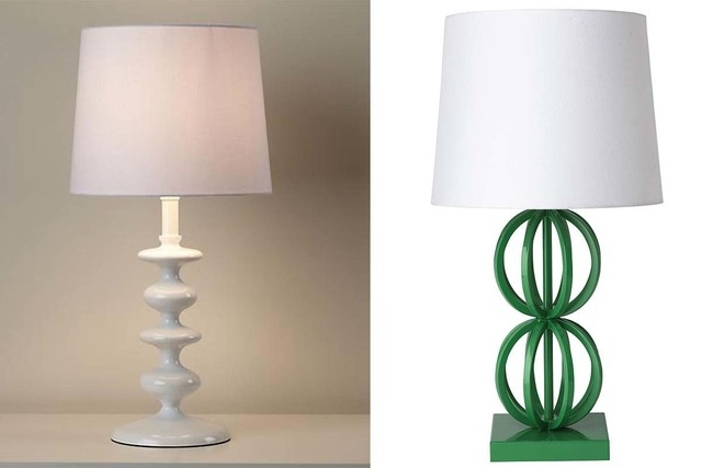 These photos show a Checkmate Table Lamp, left, and a Two Ring Table Lamp. If you can't imagine how your kids can possibly see well enough to do their homework, fear not: While they won&#x2 ...