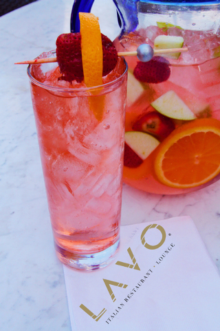 Sales of Rose Sangria at Lavo at the Palazzo and Tao at The Venetian this month benefit the American Cancer Society. (Courtesy)