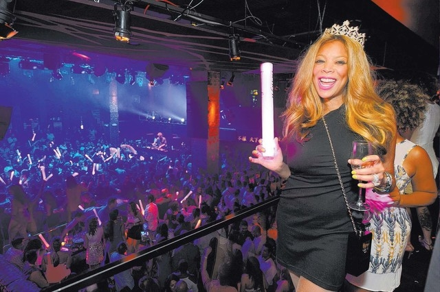 Wendy Williams celebrates her 50th birthday at Tao nightclub in July. Williams performs stand-up this weekend at The Venetian. (Courtesy/Al Powers, PowersImagery.com)