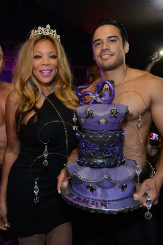 Wendy Williams celebrates her 50th birthday at Tao nightclub in July. Williams performs stand-up this weekend at The Venetian (Courtesy/Al Powers, Powers Imagery)