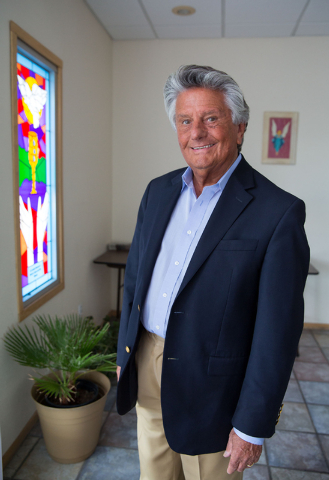 Adolph Kunen, pastor of Westminster Presbyterian Church, poses at the church, located at 4601 W. Lake Mead Blvd., on Friday, Sept. 26, 2014. The church is celebrating its 50th anniversary. (Samant ...