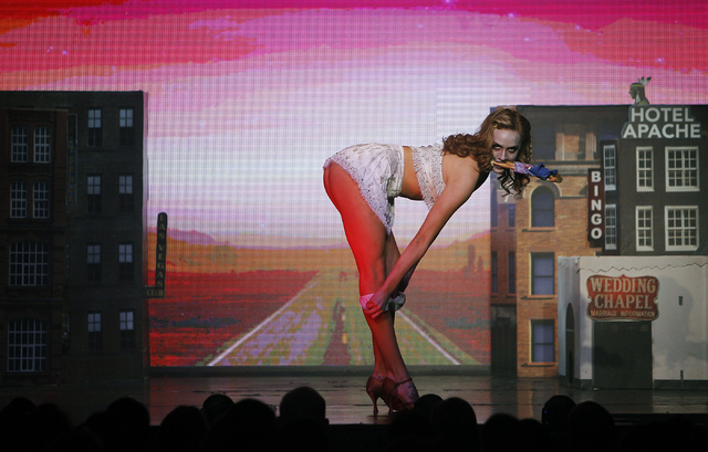 "Lora Kelsey performs ""Zombie Burlesque"" in the V Theater in the Miracle Mile Shops at Planet Hollywood. (Jason Bean/Las Vegas Review-Journal)"