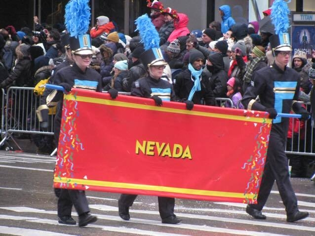 The Foothill High School Band made it to the Macy's Thanksgiving Day Parade in New York to perform before a national audience. (Used with permission, Joe Vegas/Facebook)