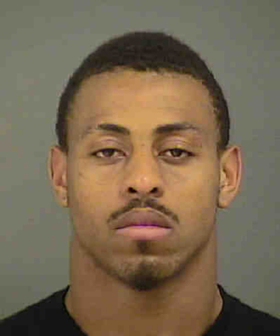 This photo provided by the Mecklenburg County Sheriff's Department shows Carolina Panthers defensive end Greg Hardy after his arrest in Charlotte, N.C., Tuesday, May 13, 2014. Hardy was arrested f ...