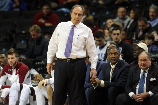 Temple Owls head coach Fran Dunphy reacts against the UNLV Runnin' Rebels during the second half at Barclays Center. UNLV defeated Temple 57-50. (Brad Penner/USA TODAY Sports)