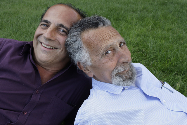 """Brothers Ray, left, and Tom Magliozzi, co-hosts of National Public Radio's """"Car Talk"""" show, are shown June 19, 2008, in Cambridge, Massachusetts. NPR says Tom Magliozzi died Monday, Nov. 3, 2014,  ..."""