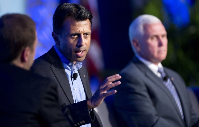 FILE - This Nov. 19, 2014, file photo shows  Louisiana Gov. Bobby Jindal as he speaks at the Republican Governors Association annual conference in Boca Raton, Fla. The conference felt like a test  ...