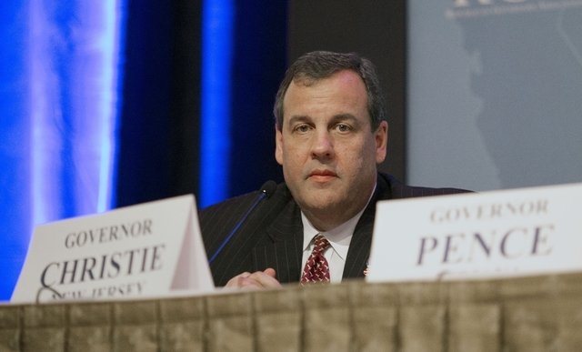 FILE - This Nov. 19, 2014, file photo shows New Jersey Gov. Chris Christie at the Republican Governors Association annual conference in Boca Raton, Fla. The conference felt like a test run for wha ...