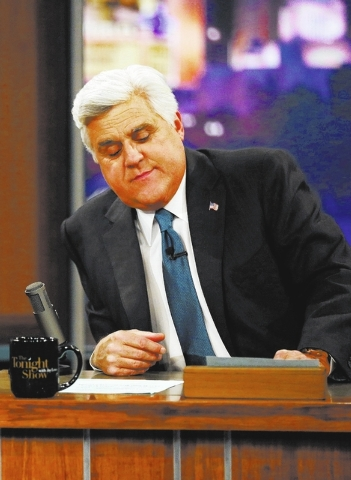 "Jay Leno appears during the final taping of  NBC's The Tonight Show with Jay Leno,"" in Burbank, Calif., Thursday, Feb. 6, 2014. Leno brings his 22-year career as the show host to an end Thurs ..."