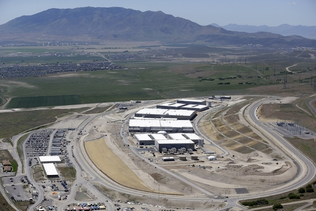 The National Security Agency's Utah Data Center in Bluffdale, Utah,June 6, 2013. A Utah lawmaker is questioning whether city water should be shut off to a massive data-storage facility outside Sal ...