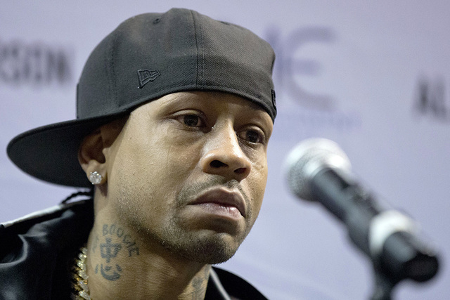 Former Philadelphia 76er Allen Iverson speaks during a news conference Wednesday, Oct. 30, 2013, in Philadelphia. Iverson officially retired from the NBA, ending a 15-year career during which he w ...
